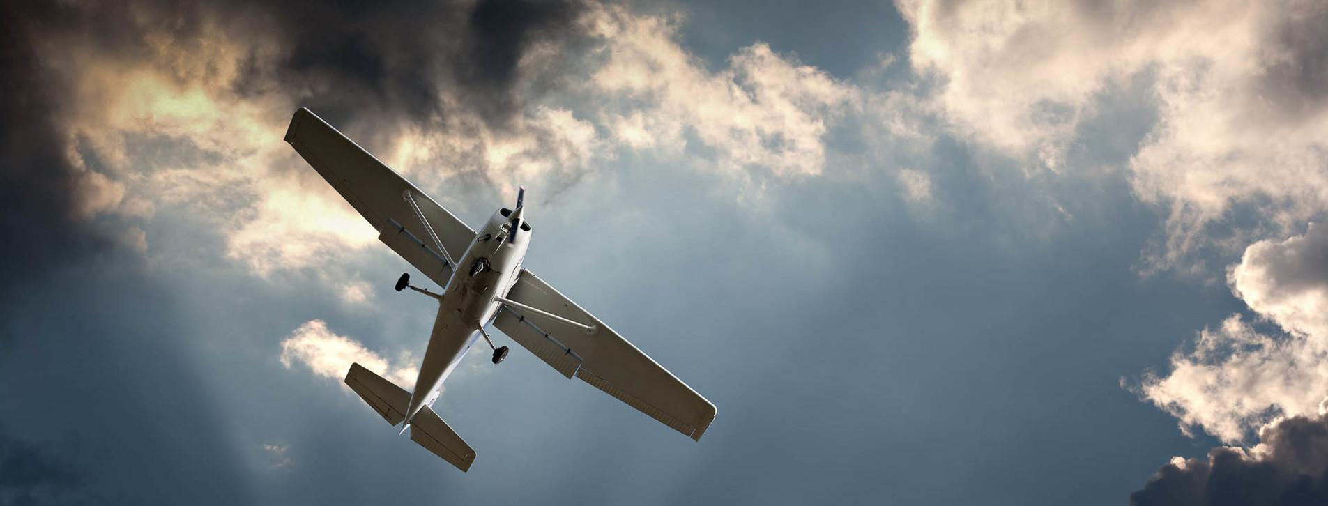 Фото - Навчальний політ на літаку